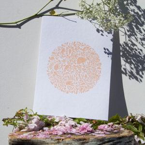 A4-papierblanc-constellationdepetalesenrond-saumon