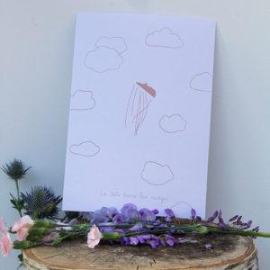 A4-papierblanc-latetedanslesnuages-rose