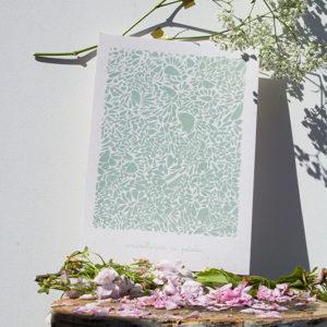 A4-papierivoire-constellationdepetales-vert