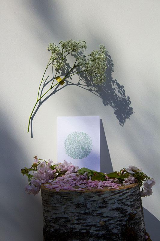A5-papierblanc-constellationdepetalesenrond-vert