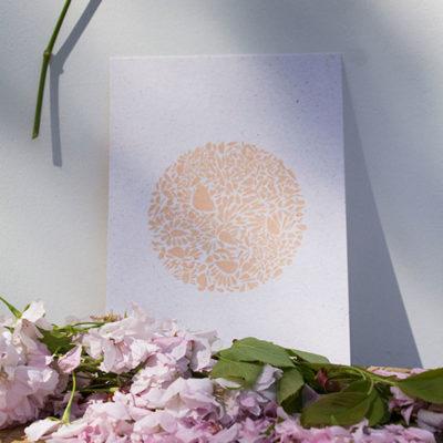 A5-papierivoire-constellationdepetalesenrond-saumon